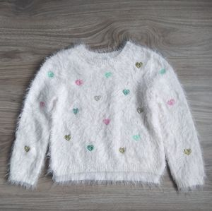 H&M Heart Sweater Size 4-5Y